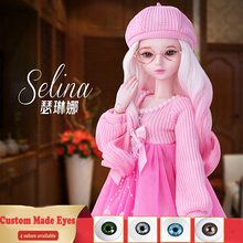 23 Inches Handmade Bjd 1/3 Doll Full Set 60cm Fashion Girl Ball Jointed Articulated Dolls Toys for Girls Birthday Gift