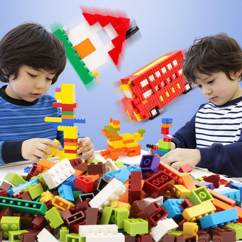 300-1000pcs/set Kids DIY Building Blocks Creative Bricks Construction Bulk Model Block Compatible All Brands Legoes Children Toy