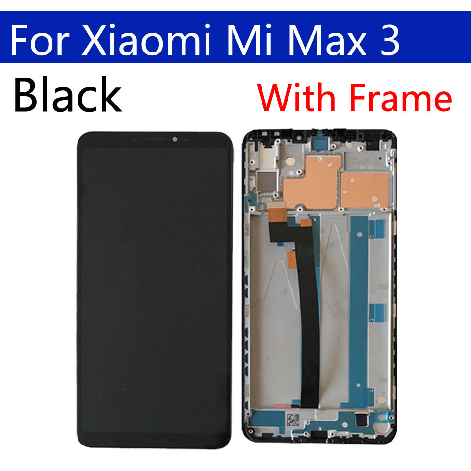 6.9 Original Display For Xiaomi Max 3 LCD Touch Screen Digitizer With Frame Replacement For Xiaomi Max3 Display Assembly
