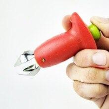 Нержавеющая сталь мини Многофункциональный Дыня и фрукты одним касанием нож для нарезки портативный помидоры в форме клубники копания оболочки экскаватор