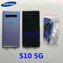 Funda trasera para Samsung Galaxy S10 5G G977 G977F G977B 5G, protector de pantalla de vidrio trasero S10
