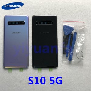 Image 1 - Original For Samsung Galaxy S10 5G G977 G977F G977B 5G version Battery cover Back cover S10 Rear glass screen Rear Glass case