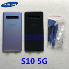 מקורי עבור Samsung Galaxy S10 5G G977 G977F G977B 5G גרסת סוללה כיסוי חזרה כיסוי S10 אחורי זכוכית מסך אחורי זכוכית מקרה