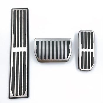 3 unids/set acelerador pedal de pie modificados interior de acero inoxidable pedal de pie para Jaguar XFL FTYPE XJ XF XE FPACE de piezas de automóviles