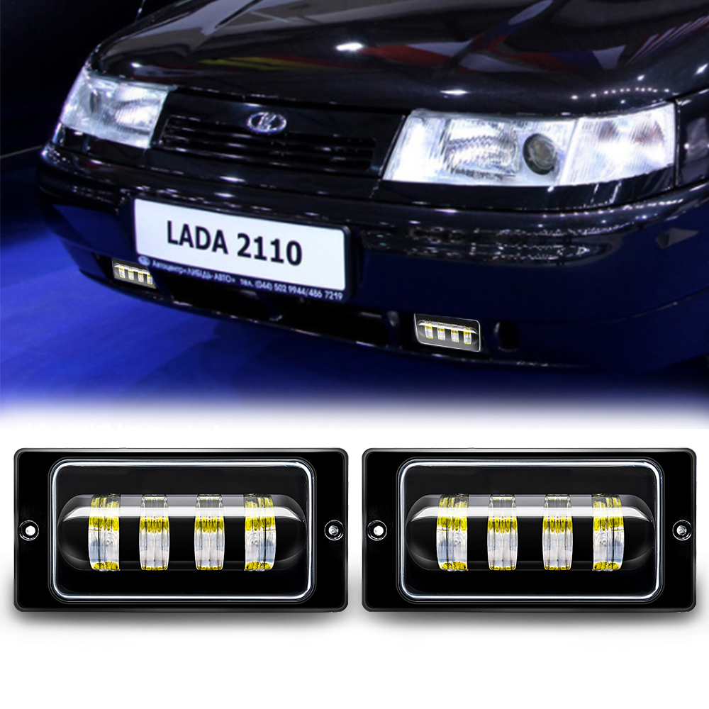 1pair Waterproof 30W 6000K Led Fog Light Fog Passing Light For Lada 2110 -2117 Cars Front Fog Lamp