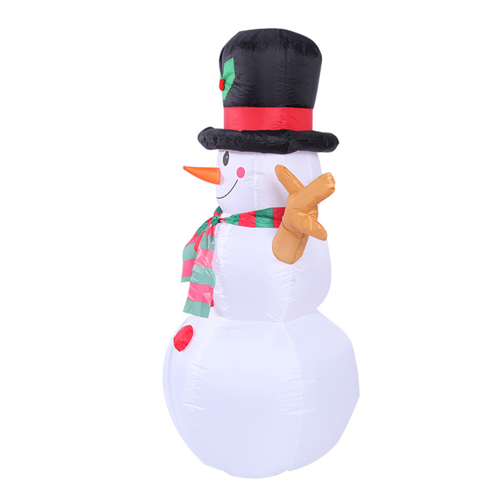 Image 2 - 1.6M Christmas Lighted Inflatable Snowman Dolls Outdoor Garden  Yard Decoration Christmas Inflatable Props with LED LightsPendant