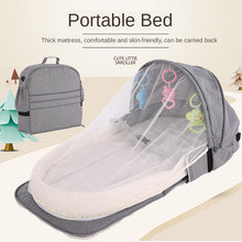 Portable Foldable Baby Bed Travel Babies' Bed Mosquito Net With Breathable Infant Sleeping Basket Mobile Crib Baby