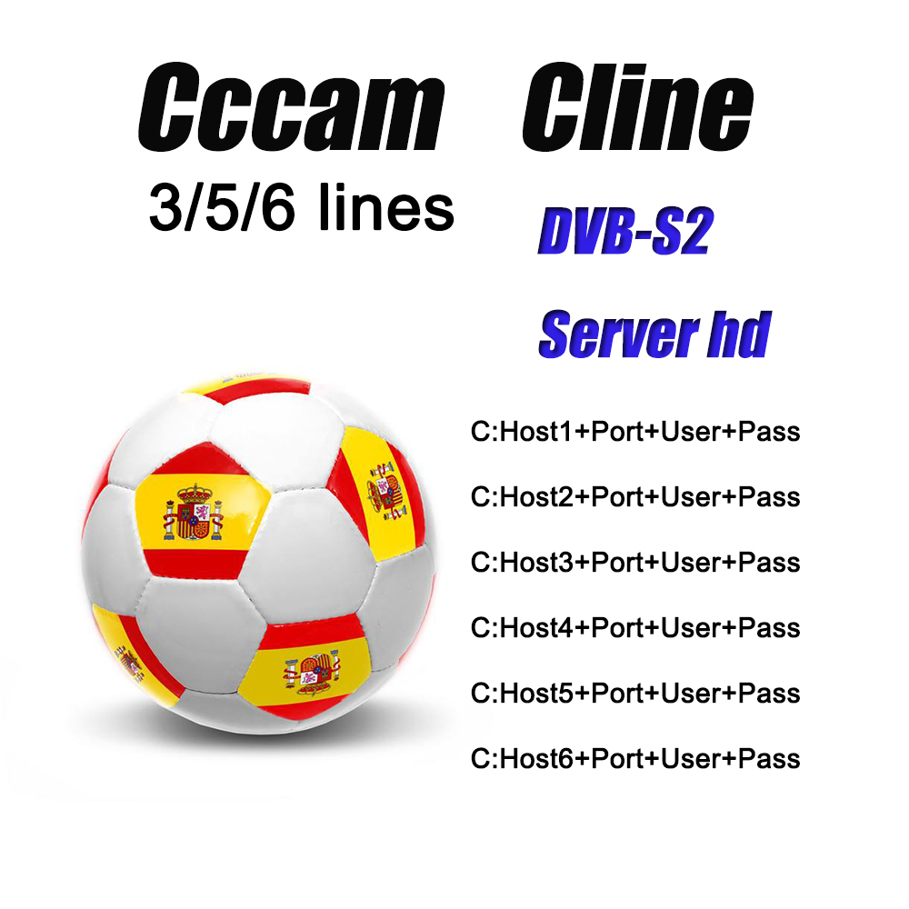 1year Cccam Cline Newest 2020 Most Stable Cccam Cline For Europe Spain Satellite Tv Receiver 3/5/6 Lines WIFI FULL HD DVB-S2