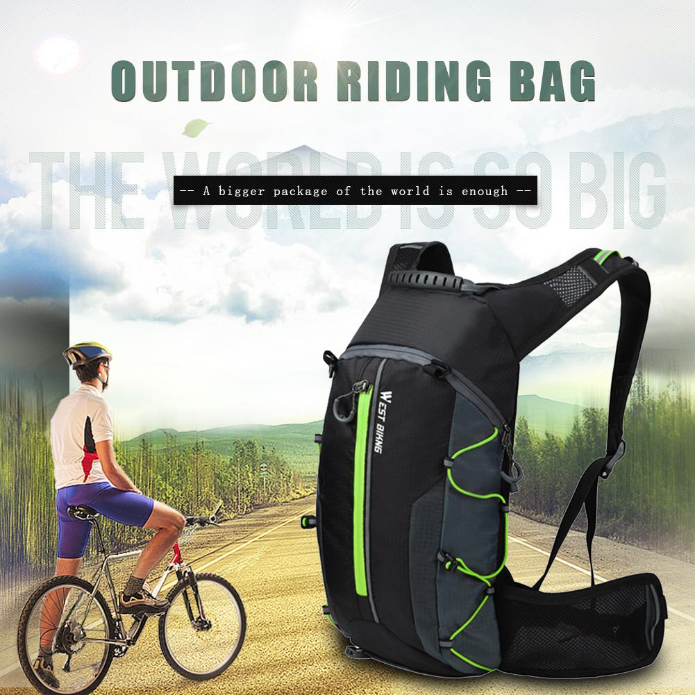 WEST BIKING 10L Bicycle Backpack Waterproof Bag for Outdoor Sports Climbing