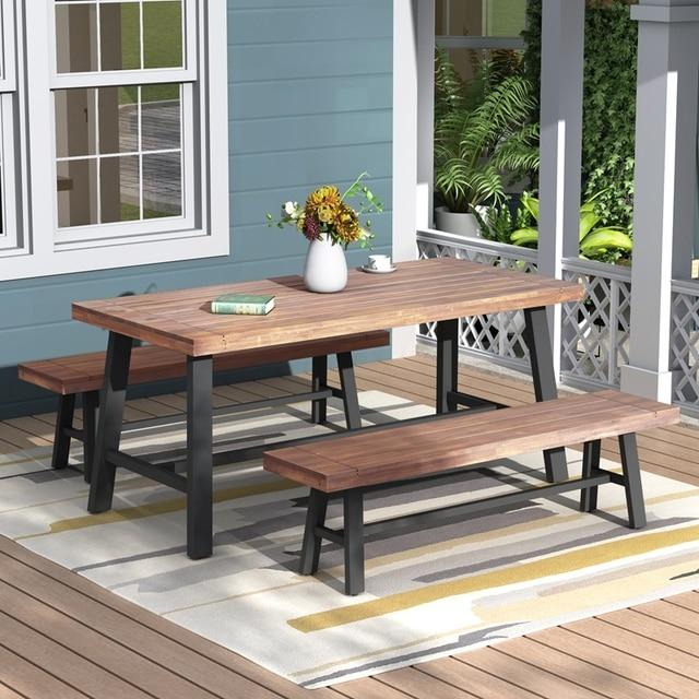 Three Pieces Outdoor Furniture Garden Picnic Set 1