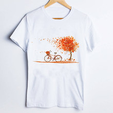 Women Tees Print Graphic Fall Autumn Pumpkin Season Thanksgiving 90s Ladies Clothes Lady Tops Clothing Female T Shirt T-Shirt(China)