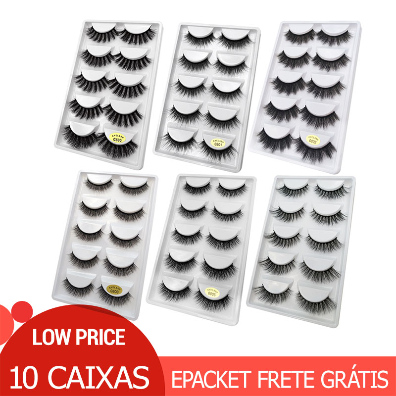 50 pairs Wholesale Eyelashes Natural Mink Eyelashes False Eye Lashes Mink Lashes Fake Eyelash Extensions maquiagem faux cilsFalse Eyelashes   -