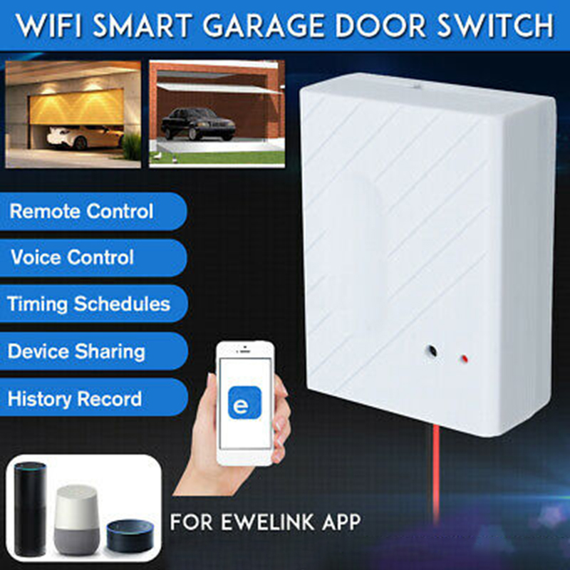 WiFi Garage Door Switch Kit Wire USB Cable Tapes Electric Gate For EWeLink APP Phone Opener Remote Control