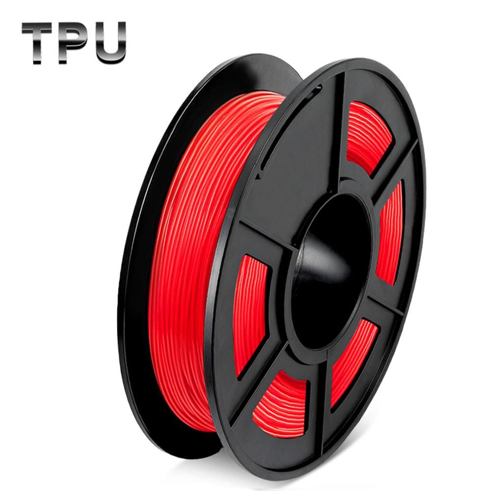 DIY 3D Printer Filament Flexible TPU Transparent 1.75mm Plastic Rubber Consumables Material 0.5/KG With Spool Fast Shipping