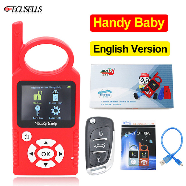 V9.0.5 Handy Baby Can Generate Remote Auto Key Programmer for 4D/46/48/G/King Chips English Version G/96 bit 48 Funciton