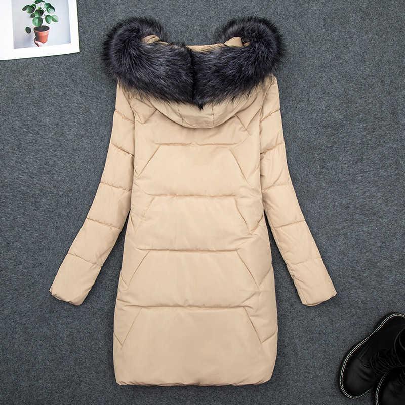 แฟชั่น Warm Coat เสื้อแจ็คเก็ตสตรีฤดูหนาวพลัสขนาด 7XL Slim ยาวผ้าฝ้ายหญิงฤดูหนาวใหญ่ขนสัตว์ Hooded Parka Mujer 2020 New