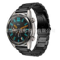 Convient pour Huawei montre GT san zhu Slingshot boucle acier inoxydable montre bracelet acier ceinture 22 Mm