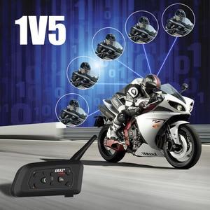 Image 3 - QPLOVE 2pcs EJEAS V6 פרו אינטרקום 1200m אופנוע bluetooth קסדת אינטרקום CSR שבב 2.4GHz FM 6 רוכבים 8H מדבר עם צעיף