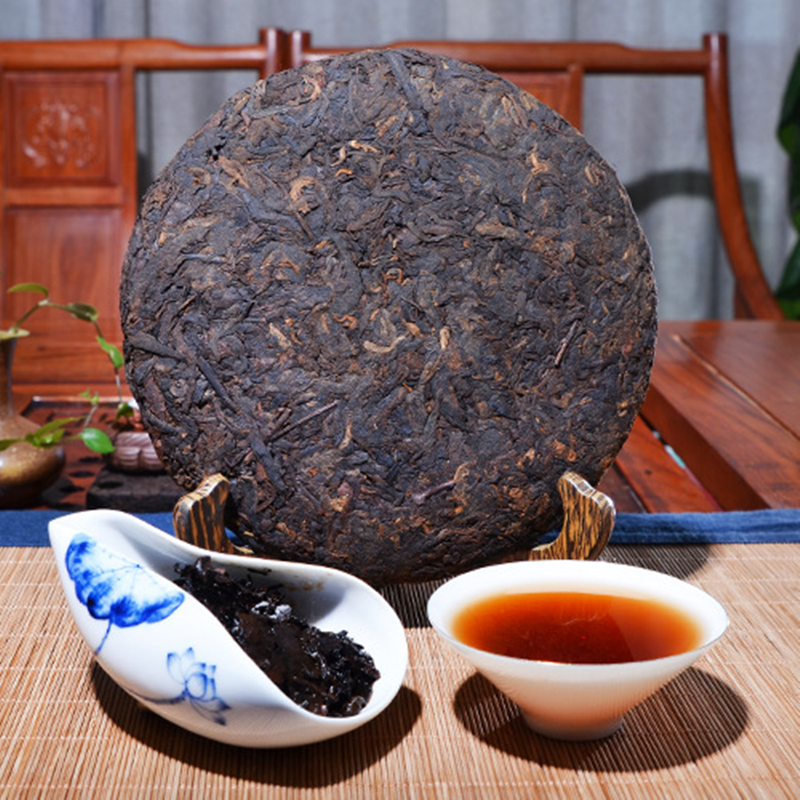 Old Pu'er Tea 357g Chinese Tea 2018 Year Yunnan Ripe Pu'erh Tea Aged Shu Pu-erh Best Organic Tea For Lose Weight Health Food 4