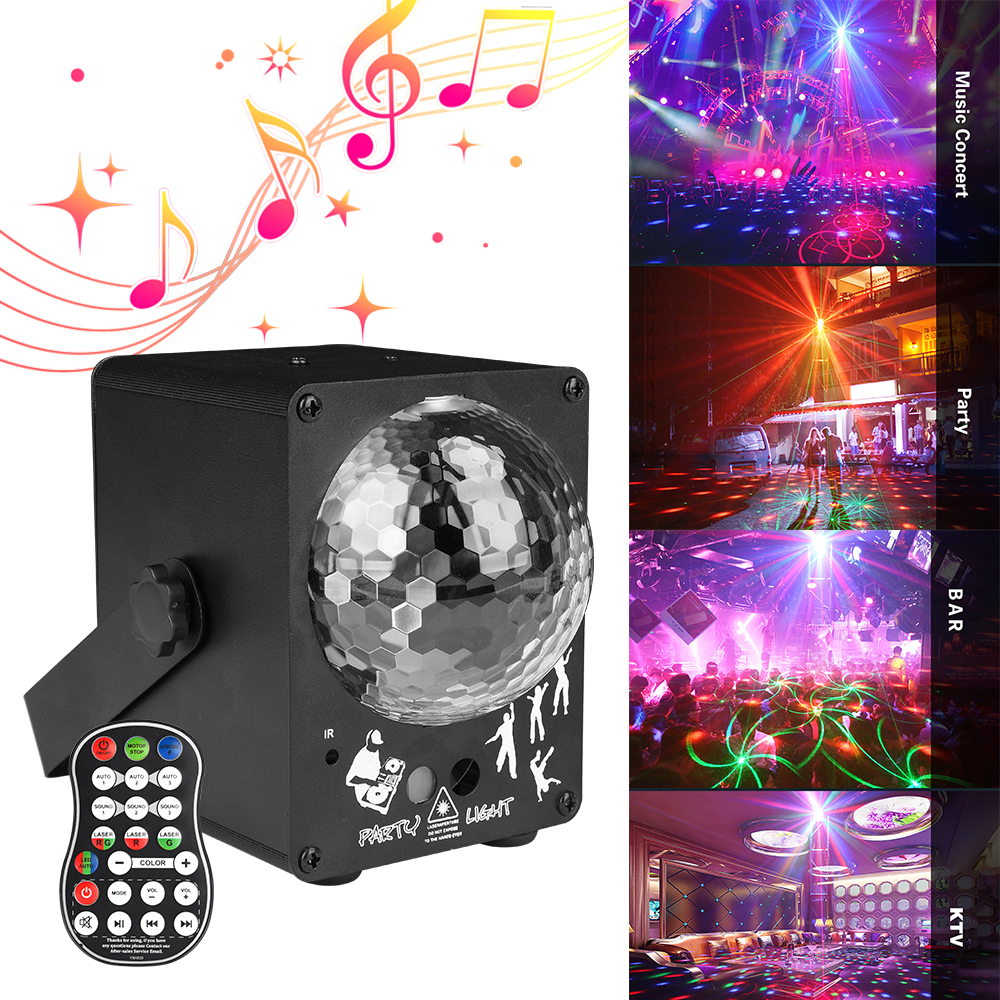 60 Pattern LED Bluetooth Music Speaker Disco Light With  Prom Laser Party Light DJ Stage Light Laser Projection Lamp