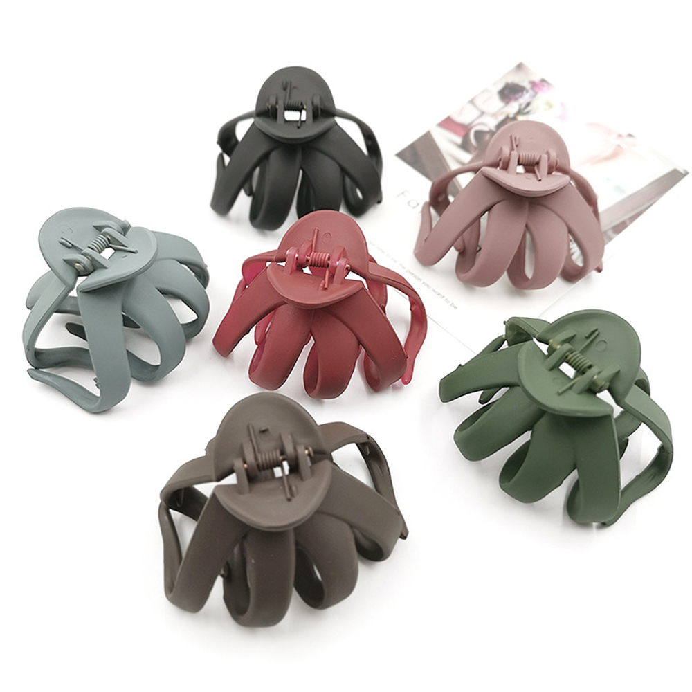 Large Size Scrub Hair Clip Fashion Candy Color Scrub Hair Claw Hair Clamp Grips Barrette For Women Hair StylingTool Bathing Clip