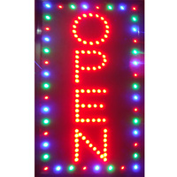 Vertical Open Led Signs Flashing Led Bar Coffee Pizza Store Open Sign Neon for Business Opening