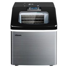 HICON-máquina de hielo comercial pequeña, mini máquina de Fabricación de hielo automática para el hogar, 25kg, 220V