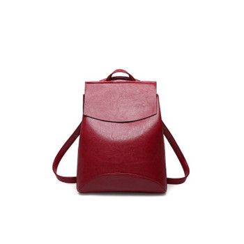 2020 new shoulder bag women's soft leather Korean version simple college style multi-functional leisure Women's backpack aetoo new leather leather korean version of the wave of shoulder bags simple leisure travel bag backpack