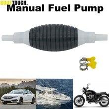 Evrensel gaz benzinli benzin dizel yağ sıvı su vana ile klipler araba taşınabilir manuel yakıt pompası Transfer el Primer
