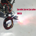 WPL D-12 D12 RC автомобиль Запасные части обновления изменение светильник группы светильник светодиодный 3 мм белый цвет красный, желтый