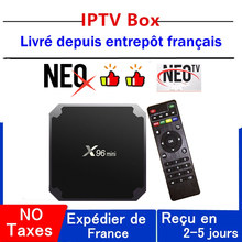 Mejor neox iptv caja x96 mini neo tv pro android tv caja 1G 8G 2G 16G neotv pro x96mini inteligente ip decodificador(China)