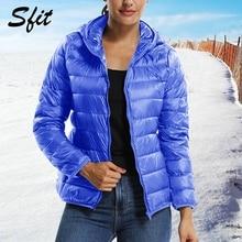 Sfit зимняя женская куртка с капюшоном, парки, новинка, модная повседневная Осенняя Женская куртка ярких цветов с длинным рукавом, повседневная верхняя одежда