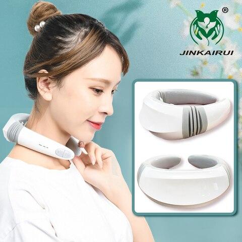 jinkairui 2020 mais novo pulso pescoco massageador recarregavel controle remoto peso leve eletronico barato presente