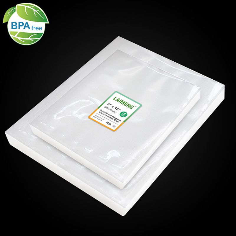 LAIMENG 100 Vacuum Bags Food Storage Bags Pre-Cut Storage For Vacuum Packer Vac Sealers Sous Vide Vaccume Safe Heavy Duty P263