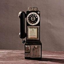 Retro modelo de telefone do vintage rotativo decoração da estátua artista antigo estatueta decorativa cafe bar janela casa decoração da mesa