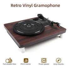 Retro 33, 45, 78 RPM Record Player Turntable Disc Vinyl Audio RCA Output Antique Gramophone 1pcs цена