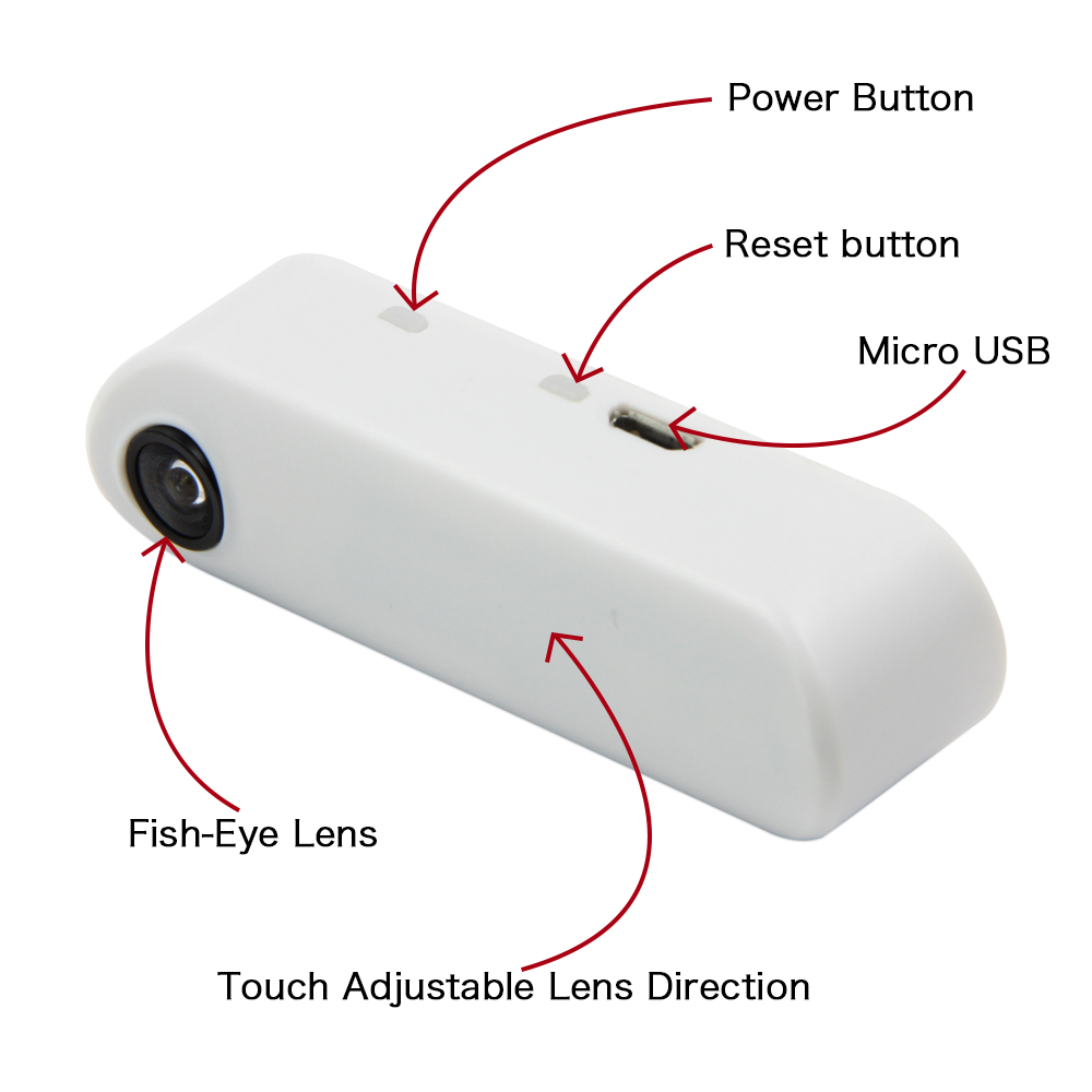 LILYGO® TTGO T-Camera Mini Camera Module ESP32 Chip 4MB Flash 8MB PSRAM Micro USB Touch Adjustable Fish-Eye Lens Direction