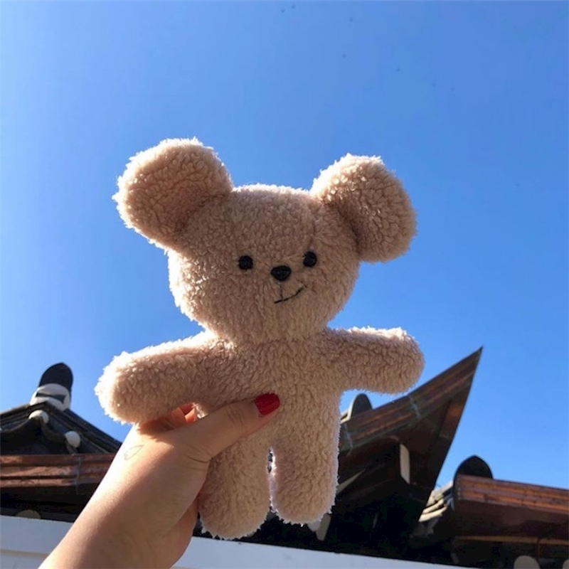 Cute bear dolls girls' plush comfort doll soft fluffy baby appease toy birthday lover gifts celebration decoration