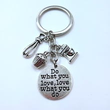 Keychain Keyring Cupcake Cake-Makers Baking-Accessories Charms Gift 1pcs for Chef Book