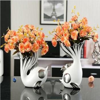 European style ceramic vase, home decoration, ceramic fish crafts, wedding gifts,