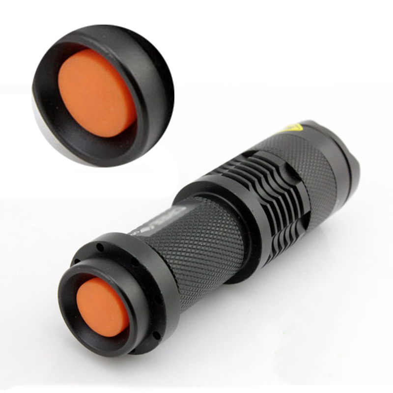 Litwod z90 + luz uv portátil mini luz penlight cree q5 lanterna led à prova dwaterproof água 3 modos zoomable foco ajustável lanterna
