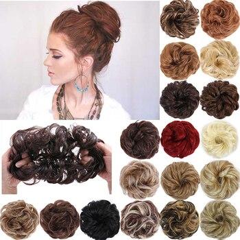 MUMUPI syntetyczny messy rose bun Bagel włosów pączek włosów przyrząd do koka z włosów chignon scrunchies włosy w koński ogon klipy uchwyt włosów ciąg