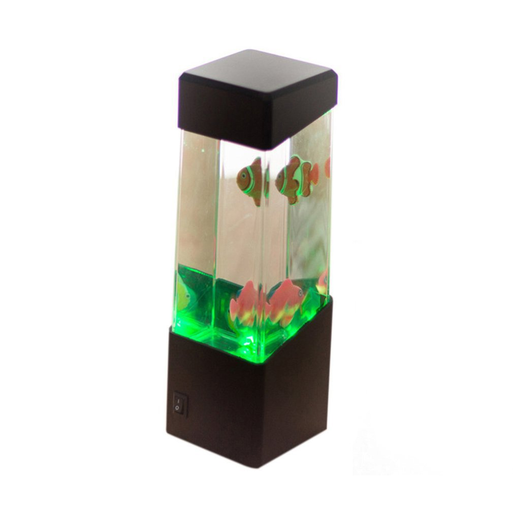 Bedside Table Motion Jellyfish Lamp  Aquarium Tank LED Desk Lamp Relaxing Night Light Bedside Desktop Night Lights For Aquarium