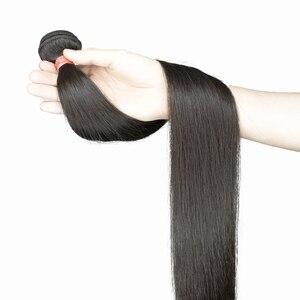 Image 5 - 스트레이트 브라질 인간의 머리카락 번들 확장 직조 8 ~ 30 40 인치 비 레미 자연 확장 짧은 롱 헤어 1 3 4 조각