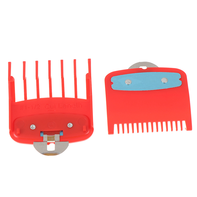Image 4 - 2Ppcs(1.5mm+4.5mm) Guide Comb Sets 1.5 And 4.5 Mm Size Red Color Attachment Comb Set For Professional Clipper-in Hair Trimmers from Home Appliances