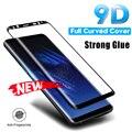 Изогнутое закаленное стекло с полным покрытием для Samsung Galaxy S9 S8 Plus Note 9 8, Защита экрана для Samsung S7 S6 Edge, защитная пленка
