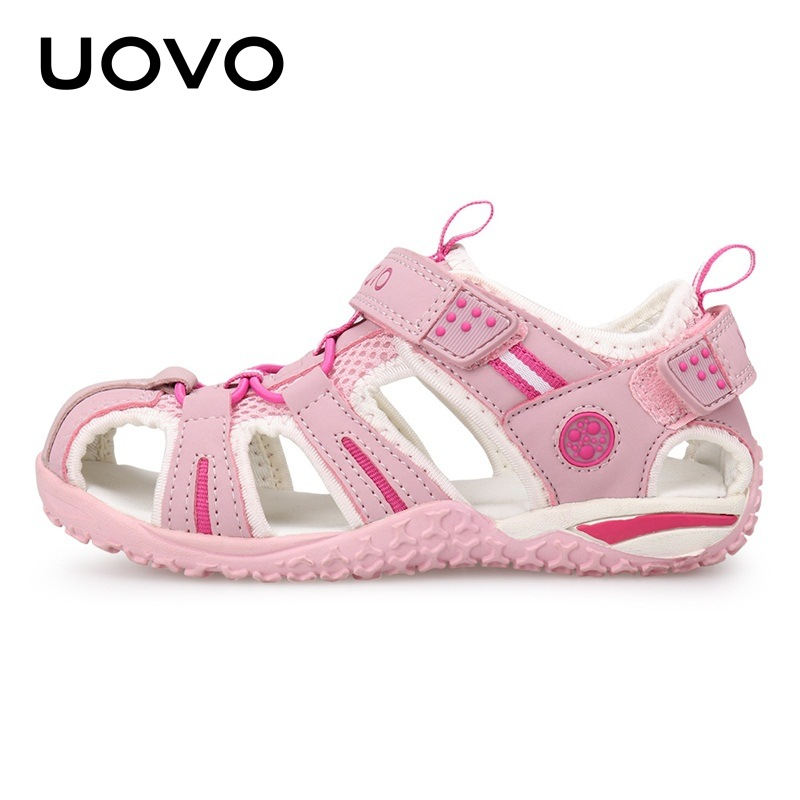 2020 Uovo New Boy Sandals Little Boy Beach Sandals For Children Big Kid Girls Summer Shoes Size <font><b>2</b></font> 3 4 <font><b>5</b></font> 6 7 8 9 10 11 <font><b>12</b></font> 13 Year image
