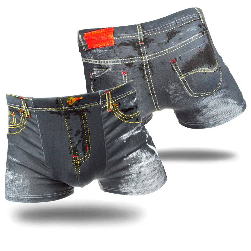 Men Classic Printed Cotton Spandex Sexy Underwear Underpants Mens Boxers Shorts Brand 2019 Drop Ship