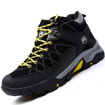 цена Winter Men Snow Boots Warm Snow Boots Ankle Men Winter Boots Work  Shoes Men Footwear Rubber Militar Zapatos Seguridad онлайн в 2017 году