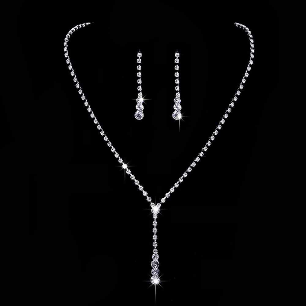แต่งงานเจ้าสาวเครื่องประดับชุดสร้อยคอต่างหูชุดดูไบแอฟริกันเครื่องประดับสำหรับผู้หญิง Bijoux Mariage biżuteria ślubna